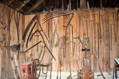 Tools at Steppingstone Museum near Havre de Grace, MD Stock Image