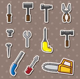 Tools stickers Royalty Free Stock Photo
