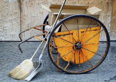 Tools of a street cleaner Royalty Free Stock Photos