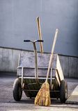 Tools of a street cleaner Royalty Free Stock Photo