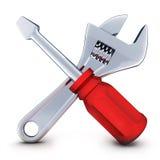 Tools, symbol repair Royalty Free Stock Photo