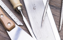 Tools on table Stock Photos