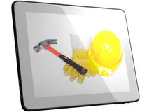 Tools On Tablet Computer Screen Stock Image