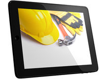 Tools On Tablet Computer Screen Stock Images