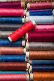 Tools for tailor. Multi colored yarns and tools to tailor Stock Photography