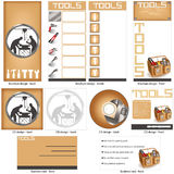 Tools template design royalty free illustration