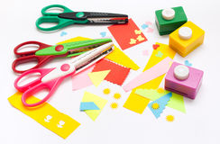 Tools to Children's Art Royalty Free Stock Photos