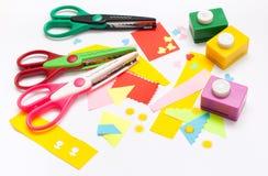 Tools to Children's Art Royalty Free Stock Photos