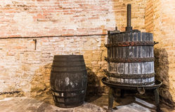 The tools to do the noble wine of Montepulciano Stock Image