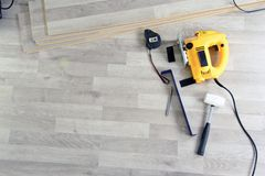 Tools to Laying Laminate Stock Images
