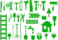 Tools to work at home, repair or garden Stock Image