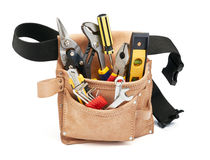Tools in tool belt. Various type of tools in tool belt Stock Image