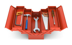 Tools in the toolbox. (3D illustration over white background