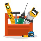 Tools in toolbox Royalty Free Stock Photo