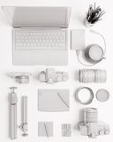 Tools of trade photographer, photography accessories Stock Photo