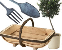 Tools and trugg for growing your own produce Stock Images