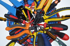Tools used in electrical installations Royalty Free Stock Photos