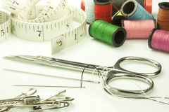 Tools used for sewing Royalty Free Stock Images