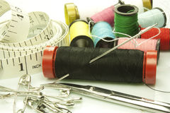 Tools used for sewing Stock Photography