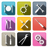 Tools Vector Buttons - Icons Royalty Free Stock Images