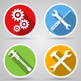 Tools vector icons Stock Photography