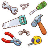 Tools. Vector illustration of Tools set royalty free illustration
