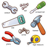 Tools. Vector illustration of Vocabulary Tools set Stock Images
