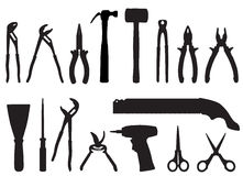 Tools vector set Royalty Free Stock Photo