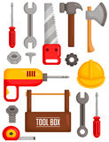 Tools vector set Royalty Free Stock Photography
