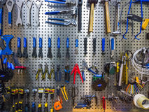Tools on the wall Stock Image