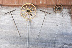Tools on the wall of a farm at Engelberg Stock Images