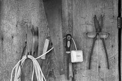 Tools On A Wall Stock Image