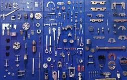 Tools wall stock image