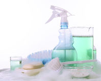 Tools for washing and cleaning. Tools for washing and cleaning, and lather Stock Photography