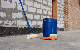 Tools for waterproofing. Stock Images