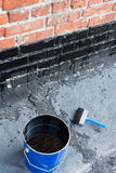 Tools for waterproofing. Royalty Free Stock Images