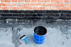 Tools for waterproofing Stock Photo