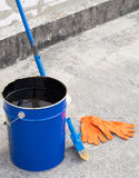 Tools for waterproofing. Royalty Free Stock Photo