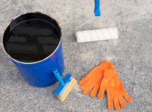 Tools for waterproofing. Stock Image