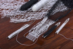 Tools for weaving fishnet Royalty Free Stock Image