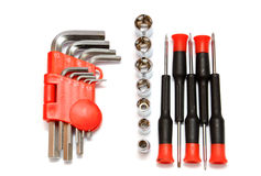 Tools on a white Stock Photo