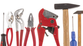 Tools on a white background isolated Royalty Free Stock Photos
