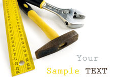 Tools on white Royalty Free Stock Photos