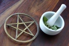 tools wiccan Royaltyfri Fotografi