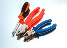 Tools, wire cutters, pliers, screwdriver, Stock Photos
