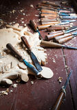 Tools of the woodcarver Stock Photo