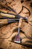 Tools of the woodcarver Royalty Free Stock Images
