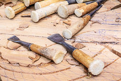 Tools of the woodcarver Stock Image