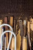 Tools-woodcraft background Royalty Free Stock Images