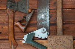 Tools for woodworking stock photography
